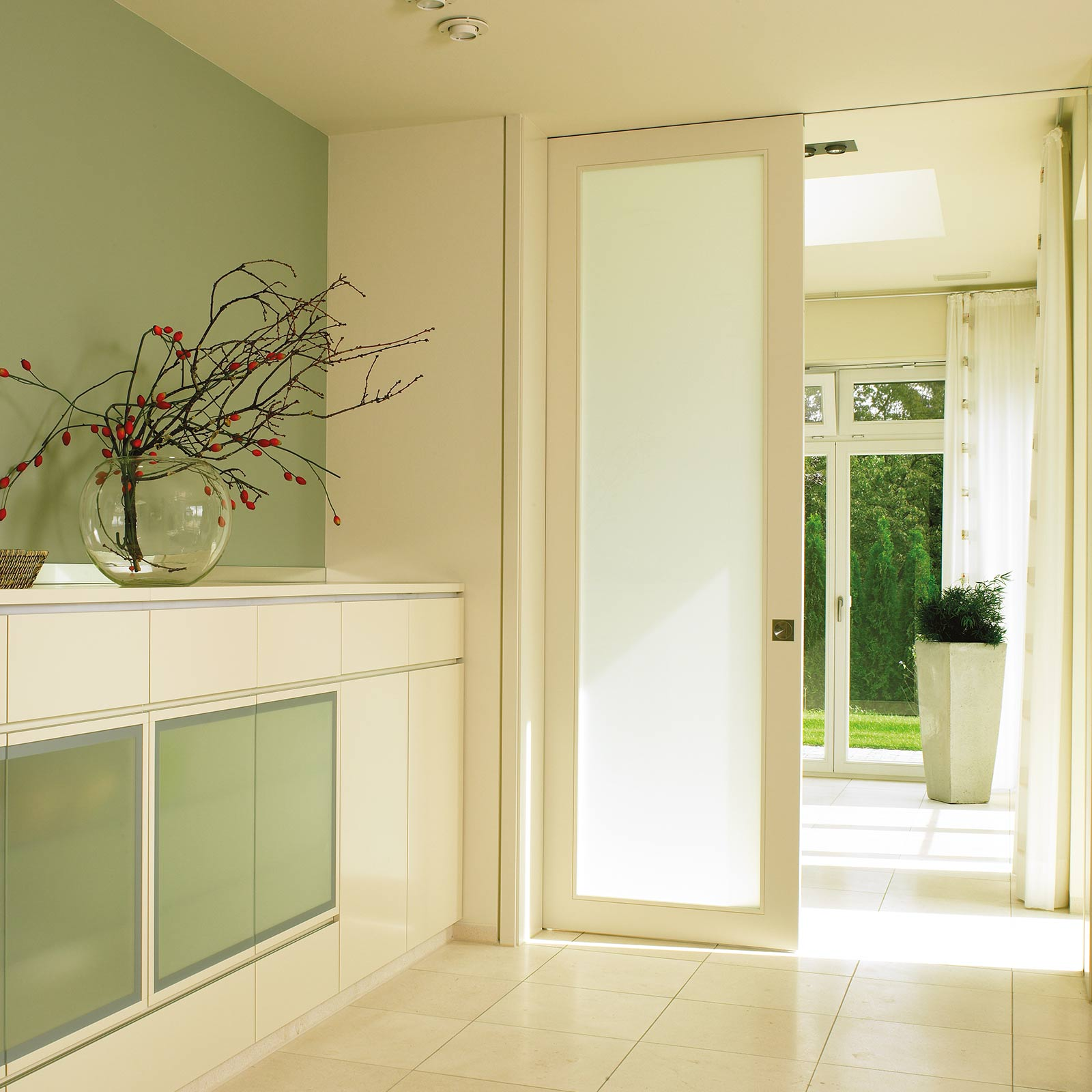 Interior pocket sliding doors