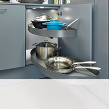 Corner Storage Solutions from Hafele UK