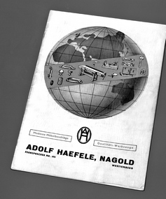 First Häfele furniture fittings catalogue