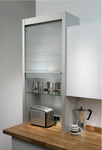 Glass Tambour Door System , Unit Size Width 600 mm x Height 1283 mm x Depth 332 mm product photo