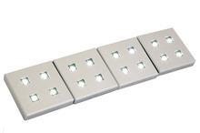 LED Plinth Light 12 V, 38 x 38 mm, Rated IP20, 4 Light Set with Driver product photo