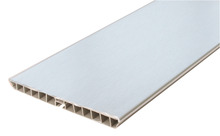 Plinth Panel, Stainless Steel Effect, PVC, Length 3000 mm product photo