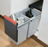 Pull Out Waste Bin, 2x 15 Litres, Cube 30 product photo