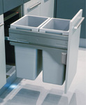 Pull Out Waste Bin, for Cabinet Width Min. 450 mm, Hailo Euro-Cargo 45 product photo