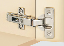Push Door Hinge, 110° Duomatic, Self Opening, Quick Fitting Arm, Full Overlay Mounting product photo