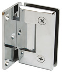 Shower Door Hinge, Wall to Glass Hinge 90° Hinge with Plate product photo