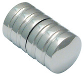 Shower Door Knob, Back to Back Cylindrical Knob Set, Ø 32 mm product photo