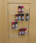 Spice and Packet Rack, Four Tier, Linear Wire, Depth 55 mm product photo