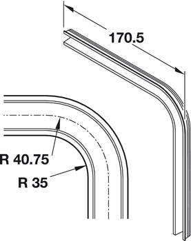 90° Bend, for Tambour Doors