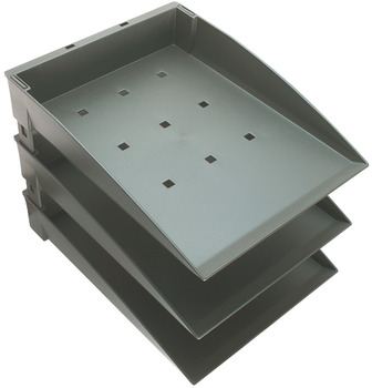 A4 Tray Set (Filing Unit), with 3 Trays, Integral Desktop System
