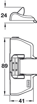 Add On Soft Close, for use with Häfele 170° Hinge