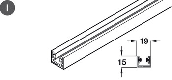 Alternative Bottom Guide Channel, for Sliding Glass Interior Doors, SV-A200