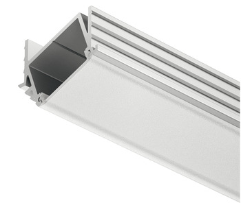 Aluminium Profile, for Recess Mounting, Angled, 11 mm depth