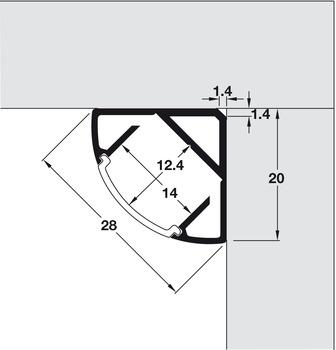 Aluminium Profiles For Led Flexible Strip Lights H 228 Fele