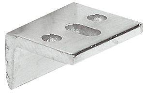 Angled Striking Plate, for Furniture Bolt, with Slot