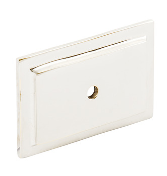 Backplate, Brass, 60 x 40 mm, Rectangular