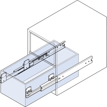 Ball Bearing Drawer Runners, Full Extension, Load Capacity 120 kg, Accuride 5322