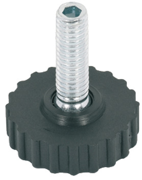 Base Leveller, with Ball Joint and M8 x 22 mm Threaded Bolt, Plastic