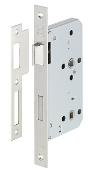 Bathroom Lock, Mortice, 78 mm Locking Centres, Stainless Steel, Startec