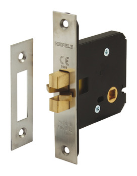 Bathroom Lock, Mortice, Clawbolt, for Sliding Doors, Case Size 76 mm