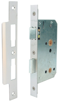 Bathroom Lock, Mortice, Square Forend, Case Size 92 mm, Startec