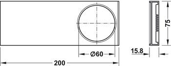 Bezel, Rectangular, for Loox LED 3010