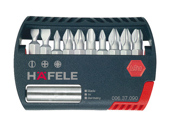 Bit Box, PZ, PH, Flat, with Magnetic Holder, Häfele