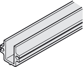 Bottom Channel, for Glass Interior Doors, Hawa-Junior