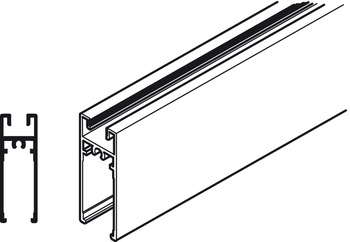 Bottom Profile, for Sliding Aluminium Framed Doors, Aluflex 80
