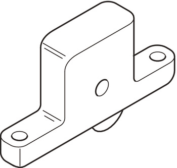 Bottom Roller, for Sliding Internal or External Doors, Straightaway 700