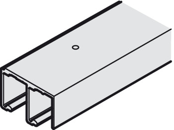 Bottom Track, Double, for Sliding Cabinet Doors, Eku-Combino L 40