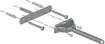 Bracket, for Concealed Shelf Support, Triade