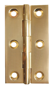 Broad Style Hinge, 75 x 42 mm, Brass