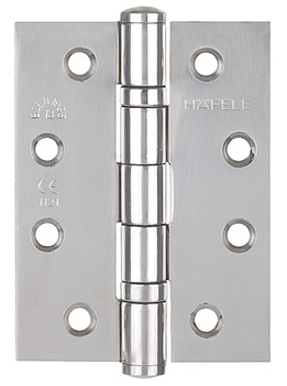 Butt Hinge, 102 x 76 mm, Stainless Steel, Startec