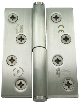 Butt Hinge, Concealed Bearing, Lift Off, 102 x 76 mm, Stainless Steel, Phoenix