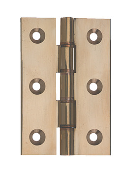 Butt Hinge, DPBW, 76 x 51 mm, Ø 8 Knuckle, Extruded Brass