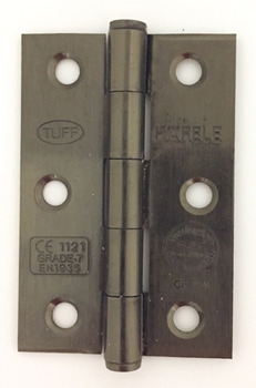 Butt Hinge, Medium, with Button Tips, Steel