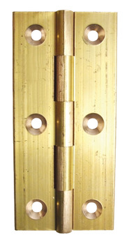 Butt Hinge, Narrow Style, 75 x 35 mm, Brass