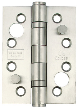 Butt Hinge, Security, 102 x 76 mm, Square Corners, Stainless Steel