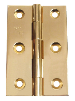 Butt Hinge, Unwashered, 75 x 51 mm, Brass