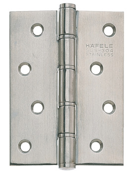 Butt Hinge, Washered, 102 x 76 mm, Stainless Steel, Häfele