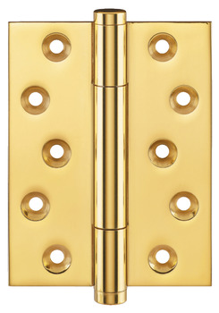 Butt Hinge, with Concealed Ball Bearings, 100 x 75 mm, Brass