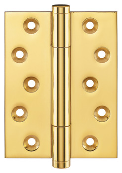 Butt Hinge, with Concealed Ball Bearings, 100 x 88 mm, Brass