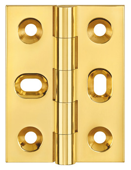 Butt Hinge, with Elongated Screw Holes, Brass, 51 x 38 mm