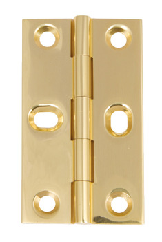 Butt Hinge, with Elongated Screw Holes, Brass, 64 x 35 mm