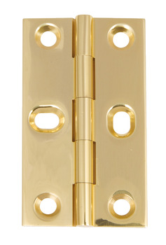 Butt Hinge, with Elongated Screw Holes, Brass, 75 x 42 mm
