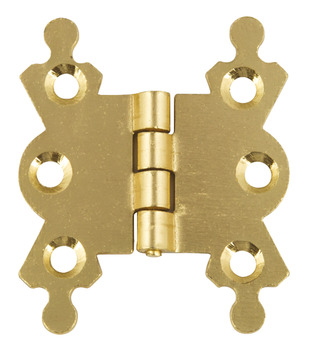 Butterfly Hinge, Electro Brass, 42 x 35 mm