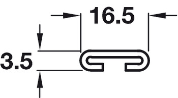 C-Profile Locking Bar, for Central Locking System