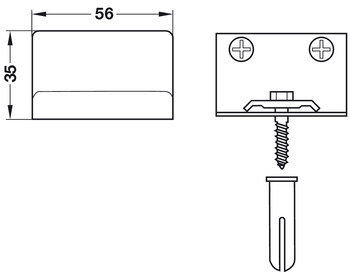Cabinet Hanger, for Mounting on the Left, Right or in the Middle