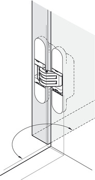 Cabinet Hinge, 3D Concealed, 180°, Zinc Alloy and Plastic
